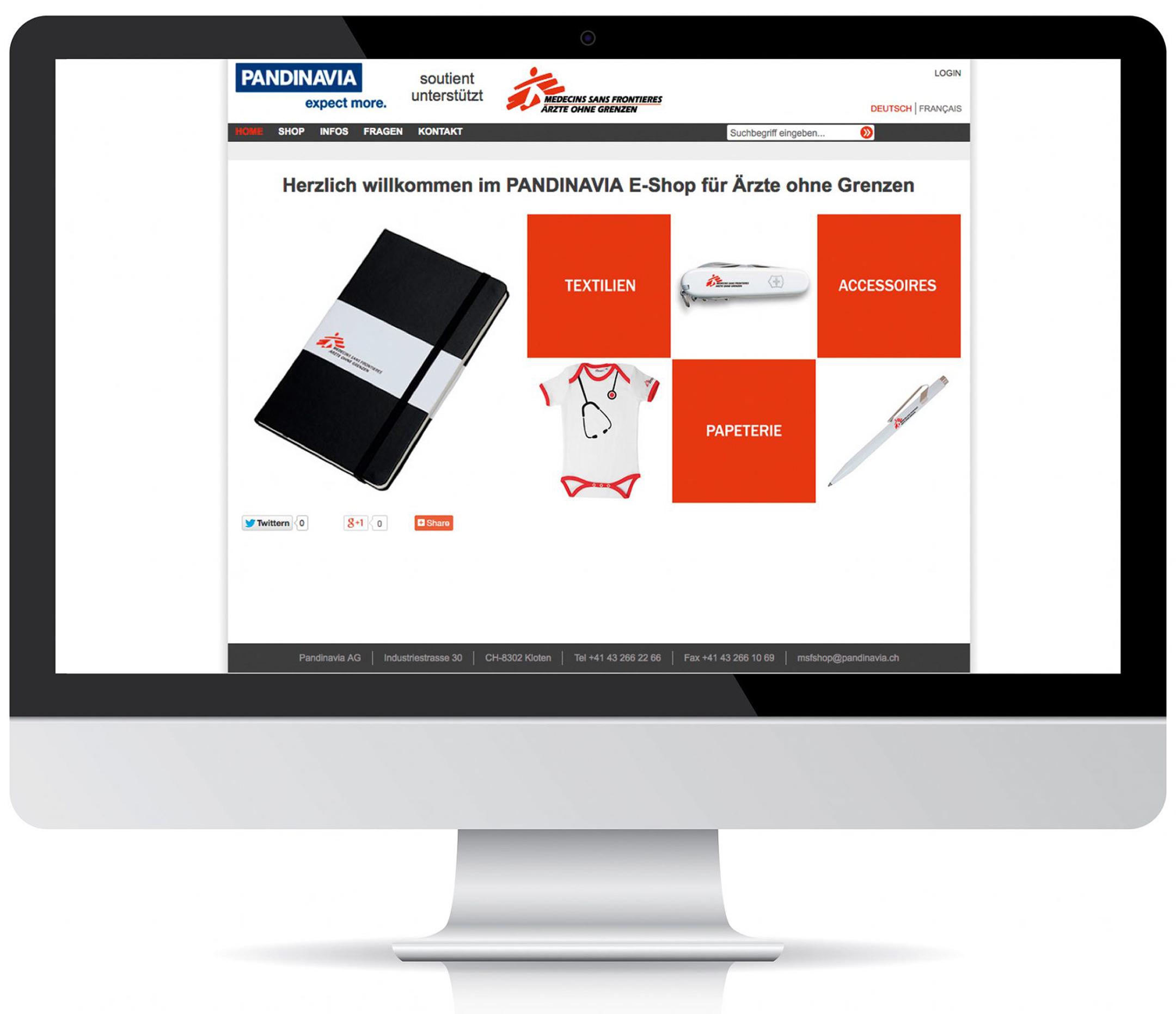 Medicines Website Mockup Pandinavia