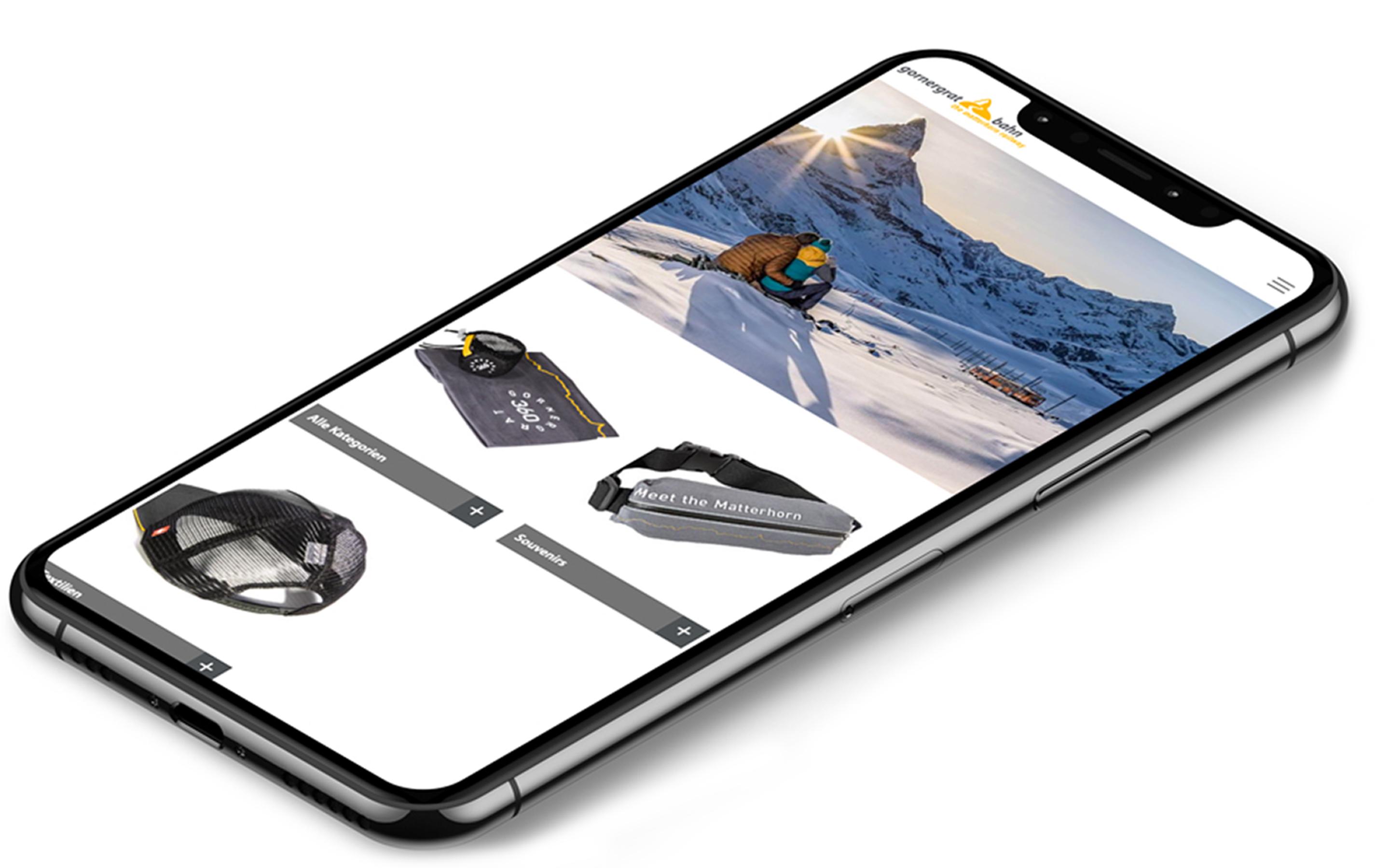 iPhone 11 Gornergratbahn Website Pandinavia Merchandising