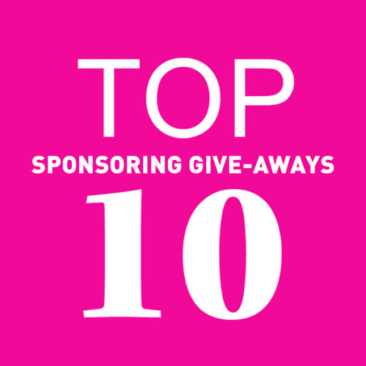 Top 10 Sponsoring Giveaways