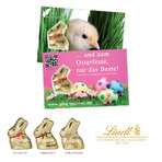 Promotion-Card mit Goldhase von Lindt